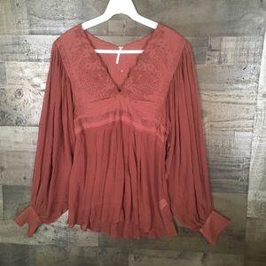Free People size medium embroidered boho blouse
